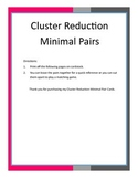 Cluster Reduction Minimal Pairs