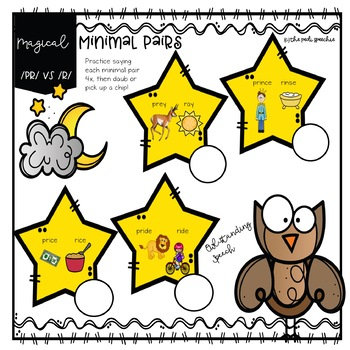 Cluster Reduction Minimal Pairs | s blends r blends speech therapy activities