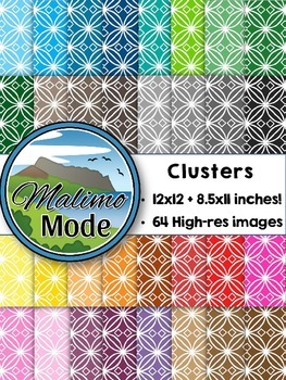 Clusters - Digital Papers Package (12x12 AND 8.5x11 inches)