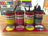 Labels For Supplies Managing Your Classroom And Tables Label Cards