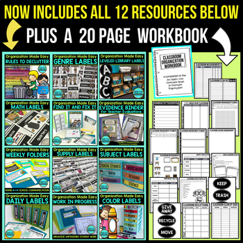 Classroom Organization Bundle --> 50% OFF TODAY ONLY!