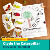 Clyde the Caterpillar Story + Worksheet, Bugs & Insects, S