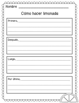Cómo hacer limonada (How to make lemonade) SPANISH