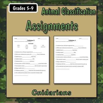 Cnidarians Teacher Notes & Assignment