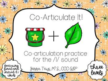 Co-Articulate It!  Co-articulation practice for the /l/ sound