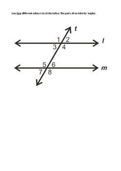 Co-Interior Angles Introductory Task