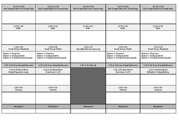 Co-Taught Planner Template