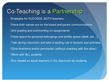 Co-Teach Training Presentation