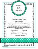 Co-Teaching 101 Planning Guide Checklist