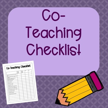 Co-Teaching Checklist