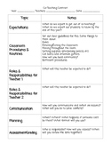 Co-Teaching Contract