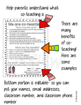 Co-Teaching Informative Flyer- editable