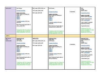 Co-Teaching Lesson Planner