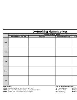 teaching plans template