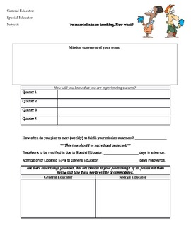 Co-Teaching Pre-planning Contract