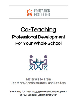 Co-Teaching- Professional Development for Your Whole School