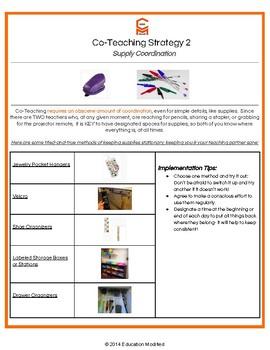 Co-Teaching- Teacher Essentials