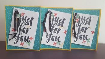 Handmade Greeting Cards: Co Workers, Teacher, & Parent Not
