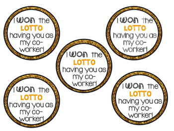 Co-Worker Lottery Gift Tags