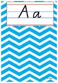 CoCreated Alphabet Template - QLD Cursive Font