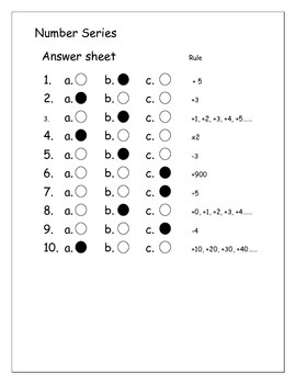 CoGAT / Gifted test prep ~  Number Series