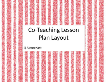 CoTeaching Lesson Plan Layout