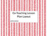 CoTeaching Lesson Plan Layout