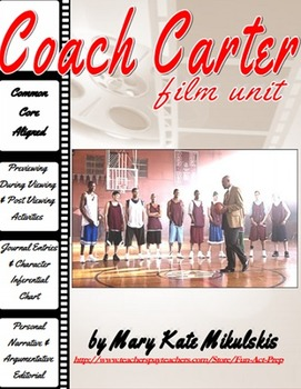 """Coach Carter"" Film Unit: Narrative Essay, Argumentative Editorial, & More!"