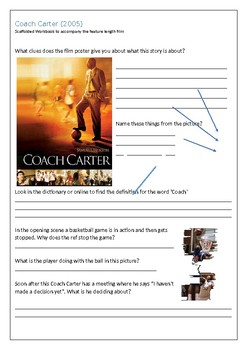 Coach Carter - Film Workbook Booklet - Scaffolded Differentiated
