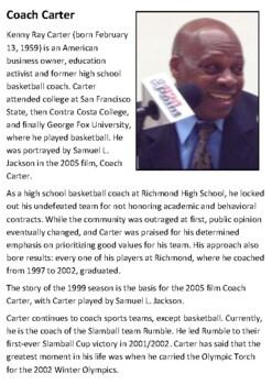 Coach Carter Handout