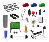 Coach Clip Art - Sport Coaching Digital Graphics