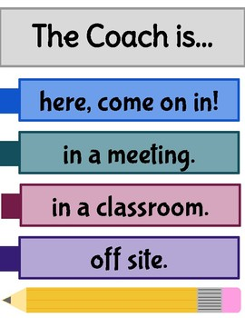 Coach Door Sign
