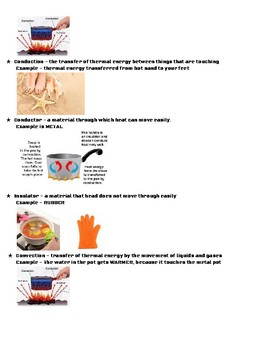 Picture Study Guide for Physical and Chemical Change - 5th Grade Science