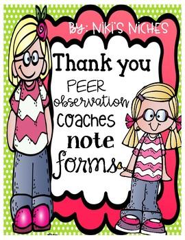 Coach/Peer walk through forms