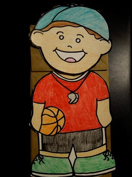 Coach paper bag puppet