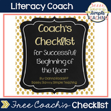 Coach's Checklist for a Successful Beginning of the Year