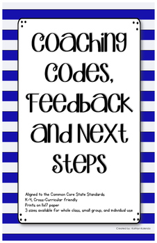 Coaching Codes, Feedback and Next Steps