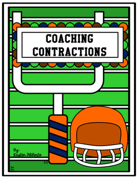 Coaching Contractions {Football Themed Contractions Worksheets}