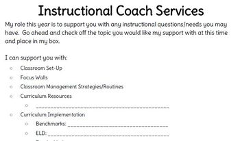 Coaching Invitation Forms
