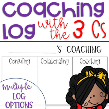Coaching Log {Coaching Forms to Keep Track of Who You've Coached Using the 3 Cs}