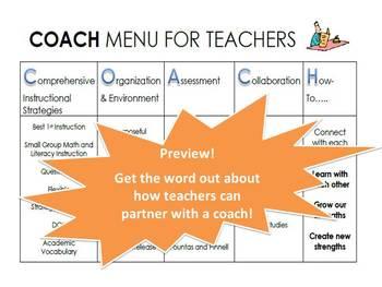 Instructional Coaching Menu