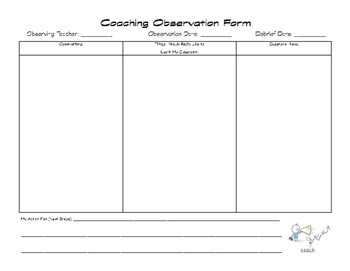Coaching Observation Form