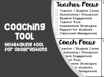 Coaching Pre/Post Observation Document