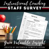 Instructional Coaching: Staff Self-Survey on Teaching Skil