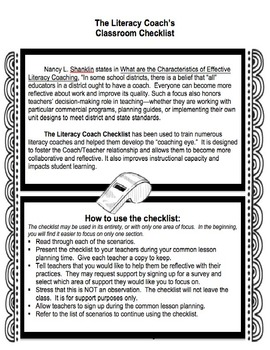 Starting Point for Literacy Coaches