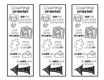 Coaching Strategies Bookmark
