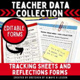 Instructional Coaching: Teacher Data Collection Tool [Editable]