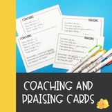 Coaching and Praising Cue Cards