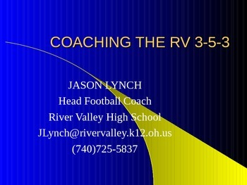 Coaching the RV 3-5-3 Defense