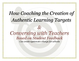 Coaching the creation of authentic learning targets